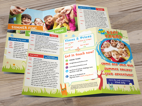 Kids Count - Leaflet Design & Print