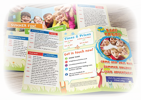 Nursery Leaflets and Flyers